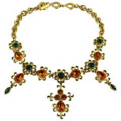 Yves Saint Laurent YSL Vintage Jewelled and Enameled Necklace