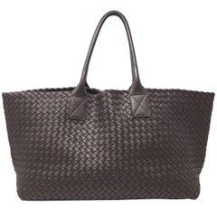 Bottega Veneta Cabat Espresso Lambskin Leather Shopping Tote Bag