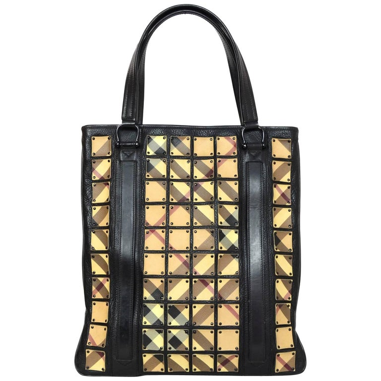 Burberry Prorsum Patchwork Nova Plaid Leather Tote Bag w. Dust Bag For Sale  at 1stdibs 2931dc654dd52