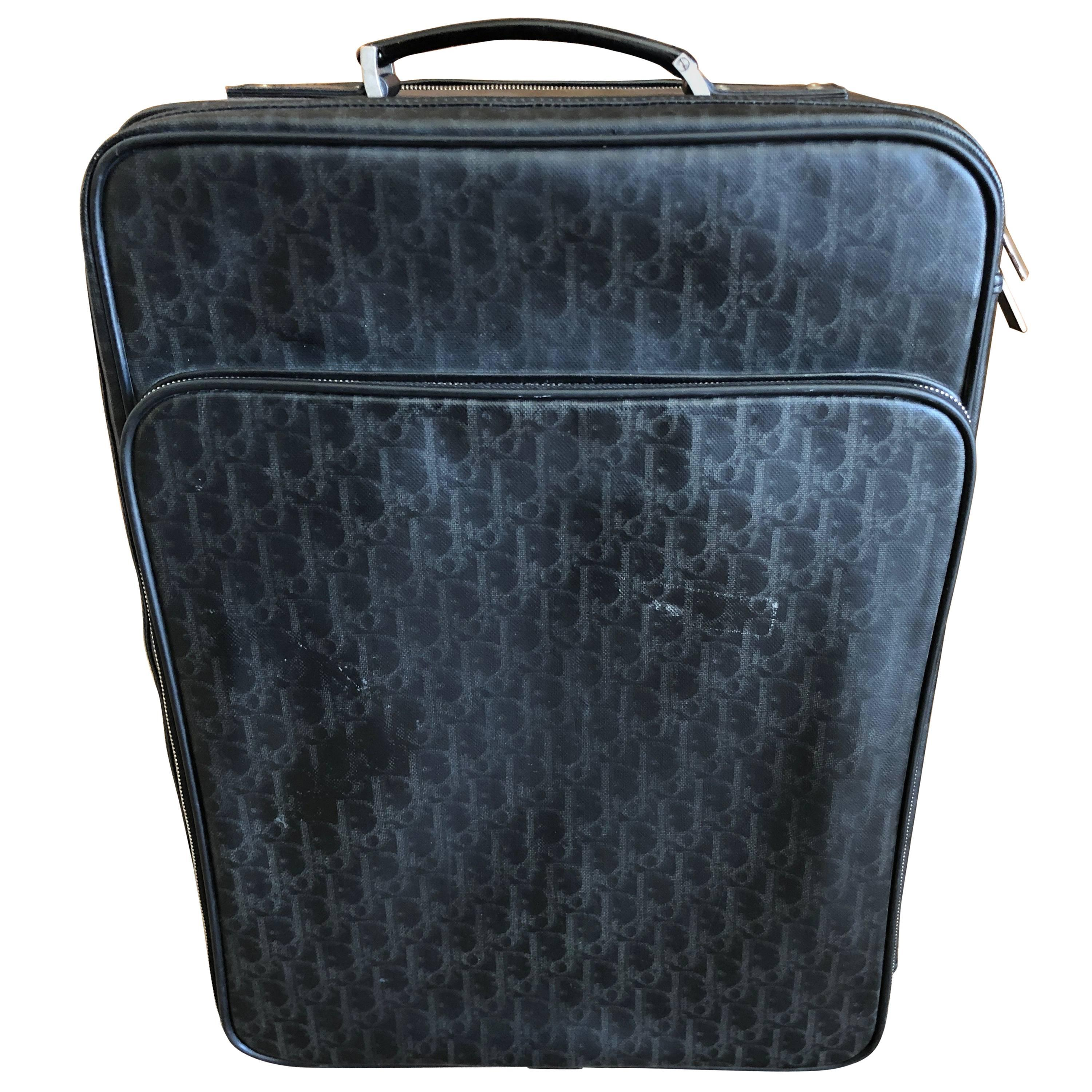 Dior Homme Gentleman s Black Logo Monogram Rolling Luggage Suitcase For  Sale at 1stdibs cc8a7b8b0711d