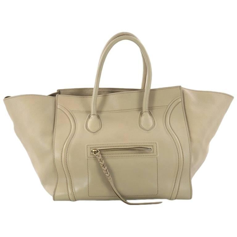 Celine Phantom Handbag Grainy Leather Medium