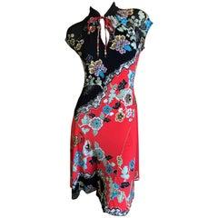 Roberto Cavalli Vintage Cheongsam Style Dress