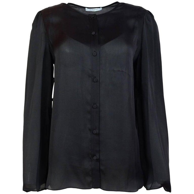 Givenchy Black Silk Top Sz IT40 NWT