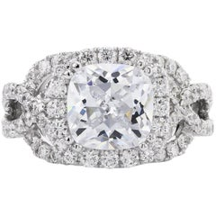 White Gold Semi-Mount Diamond Ring
