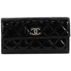 Chanel Brilliant CC Gusset Flap Wallet Patent Long