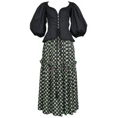 Vintage Iconic Yves Saint Laurent Peasant Collection Ensemble