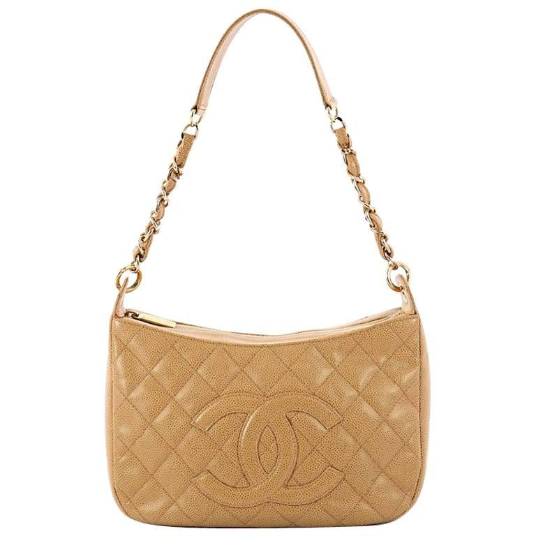 Chanel Timeless CC Chain Shoulder Bag Quilted Caviar Medium