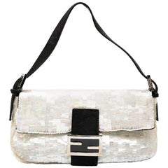 FENDI Flap Bag in Rainbow Sequins and Black Foal Pattern Finishes