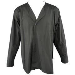 Marni Black Raw Edge Cotton Belt Closure Shirt