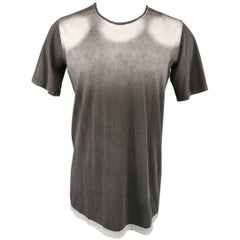 DRKSHDW by Rick Owens Men's Dark Gray Ombre Graphic Cotton T shirt