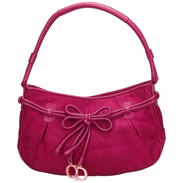 ... PursesShoulder Bags. Dior Purple Oblique Drawstring Baguette For Sale 491e18b226b6a