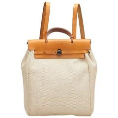 Hermes White x Brown Herbag Backpack