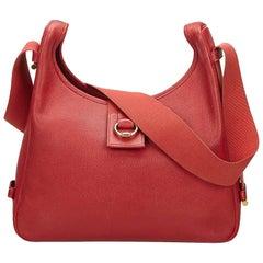 Hermes Red Epsom Tsako Bag