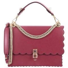Fendi Kan I Leather Medium Handbag