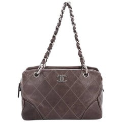 Chanel Outdoor Ligne Tote Quilted Caviar Medium