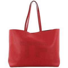 Tom Ford Logo Tote Perforated Leather Large