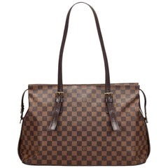 Louis Vuitton Brown Damier Ebene Chelsea