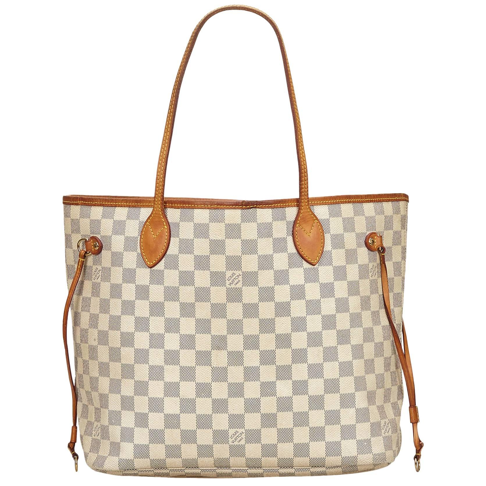 Louis Vuitton White X Blue Damier Azur Neverfull Mm x9yE1q