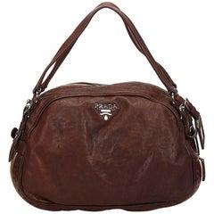 Prada Brown Leather Handbag