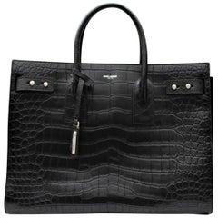 Yves Saint Laurent Crocodile Print Sac De Jour Bag