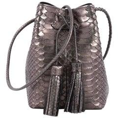 Tom Ford Tassel Python Small Bucket Bag