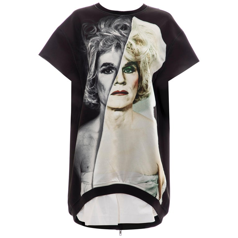 Christopher Makos For Ports 1961 Andy Warhol Altered Images Black Mini Dress,  For Sale