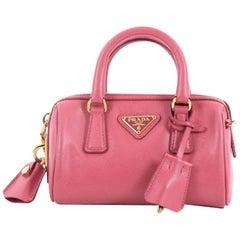Prada Lux Saffiano Leather Mini Convertible Boston Bag