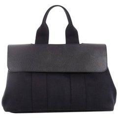 Hermes Valparaiso Toile And Leather PM Handbag