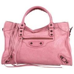 Balenciaga City Classic Studs Handbag Leather Medium
