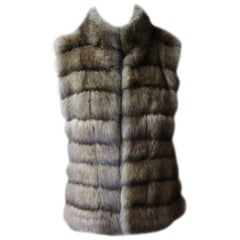Dennis Basso Golden Sable Fur Vest