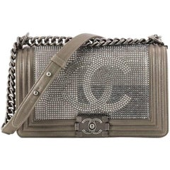Chanel Paris-Dallas Boy Flap Bag Limited Edition Metallized Strass Old Medium
