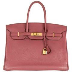 2011 Hermès Bois De Rose Clemence Leather Birkin 35cm