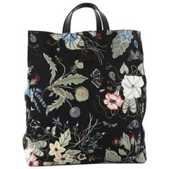 Gucci G-Active Knight Tote Flora Canvas Tall