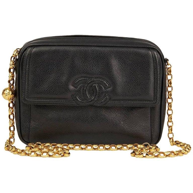 ... PursesShoulder Bags. 1994 Chanel Black Caviar Leather Vintage Timeless  Camera Bag For Sale 11d5d8cbbe837