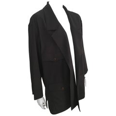 Karl Lagerfeld 1990s Navy Wool Smock Jacket Size 10.