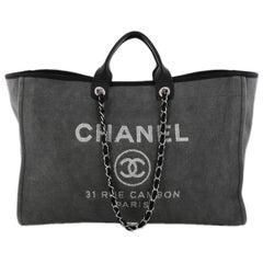 Chanel Deauville Chain Tote Canvas XL