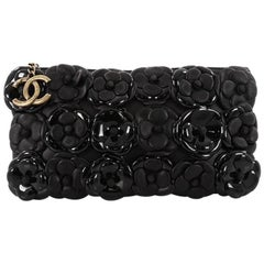 Chanel Camellia Chain Pochette Embellished Lambskin and Patent Small
