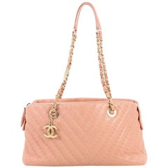 Chanel Surpique CC Charm Tote Chevron Lambskin Small