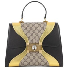 Gucci Osiride Top Handle Bag GG Canvas and Leather Medium