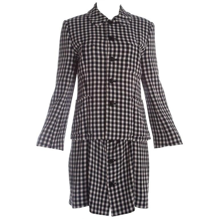 Comme des Garcons gingham crepe shirt dress, A / W 1995
