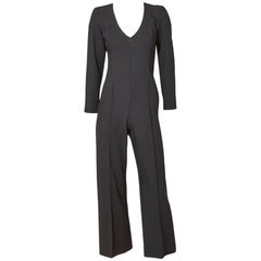 Yves Saint Laurent Rive Gauche Wool Crepe Jumpsuit