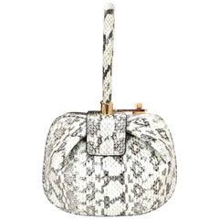 Gabriela Hearst Limited Edition Black & White Snakeskin Demi Handle Bag
