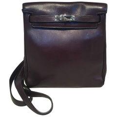 Hermes Dark Brown Kelly Ado Vache Leather Mini Backpack Shoulder Bag