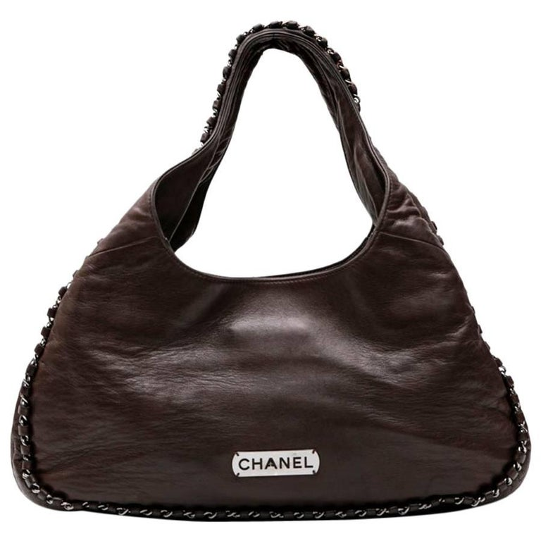 CHANEL Bag in brown Smooth Lamb Leather
