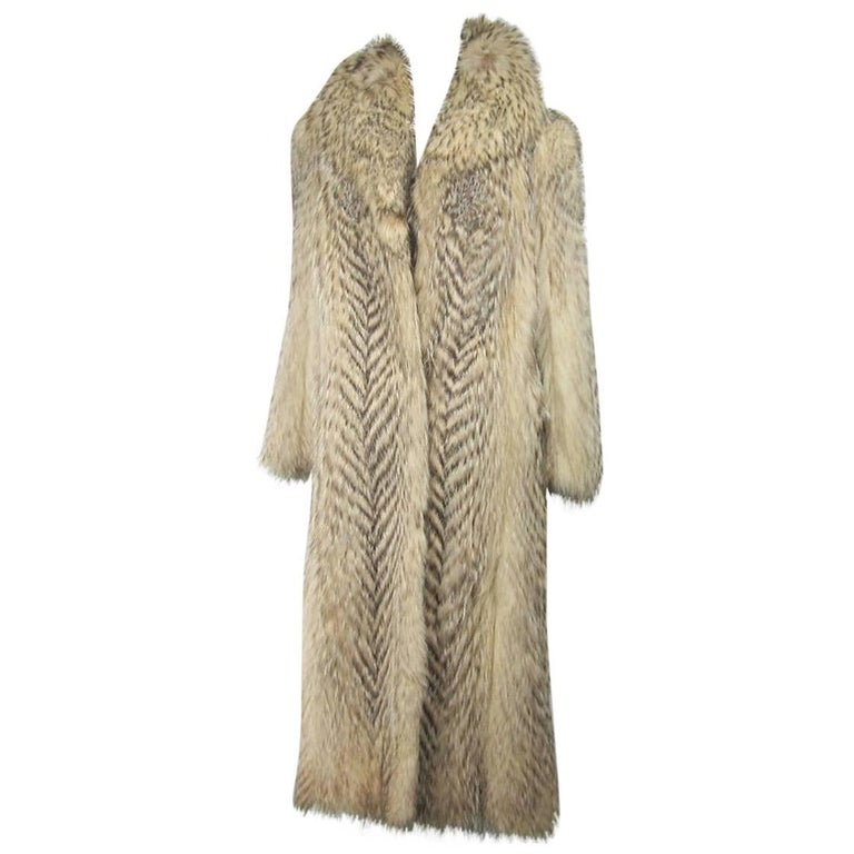 Tanuki Fin Raccoon Fur Full Length Coat