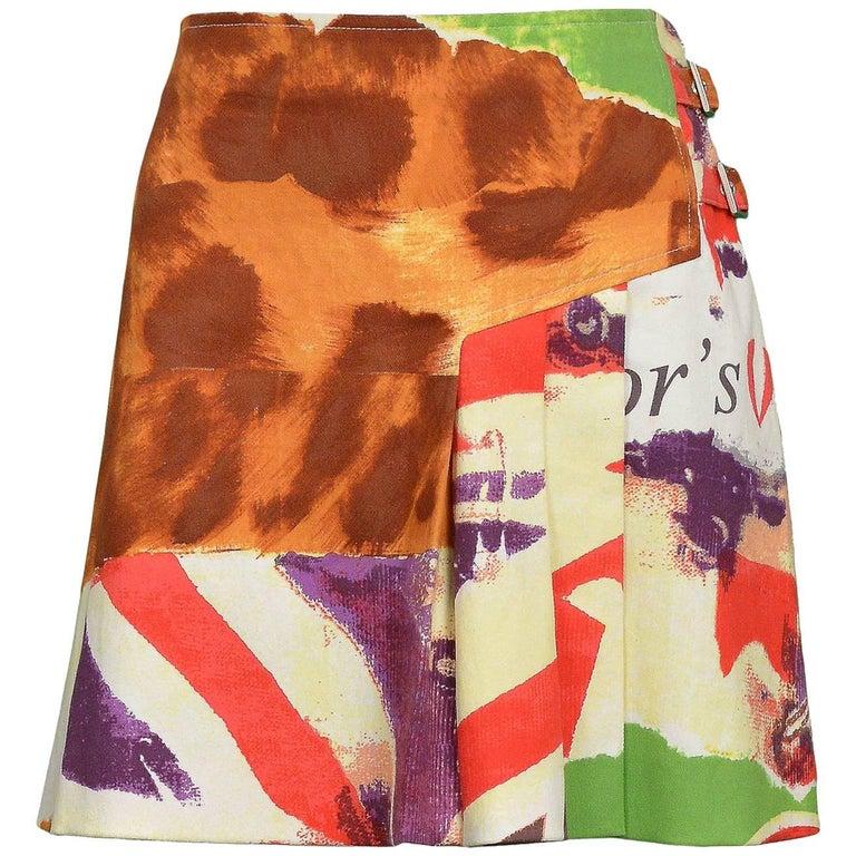 John Galliano for Dior 2005 'Victim' Bondage Pleated Skirt