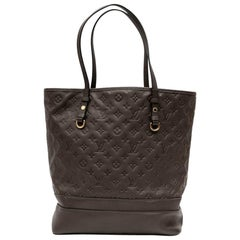 LOUIS VUITTON 'Citadine' Tote Bag in Brown Leather