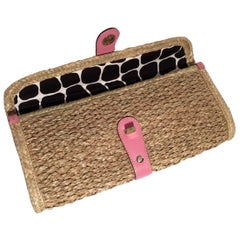 New Kate Spade Wicker Straw Rattan Clutch Bag Her Spring 2005 Collection