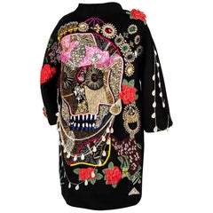 Libertine Ltd Ed Rear Skull Embellished Unisex Black Coat