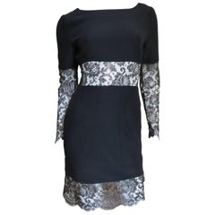 1990s Stunning Karl Lagerfeld Dress with Lace